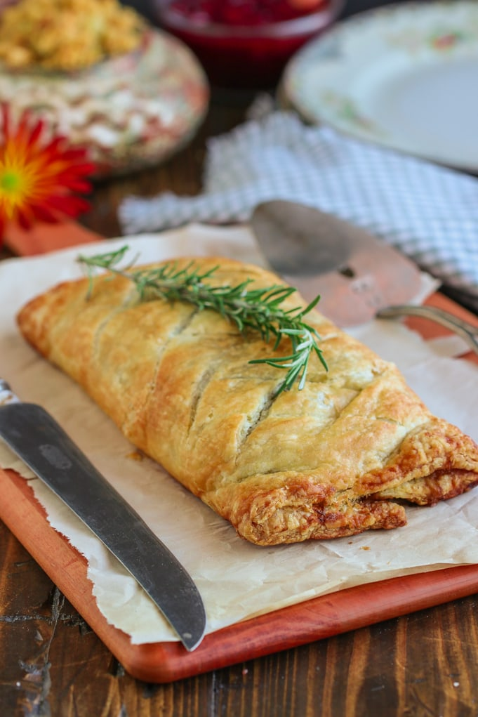 Vegan Mushroom Wellington w/ Sweet Potato & Rosemary